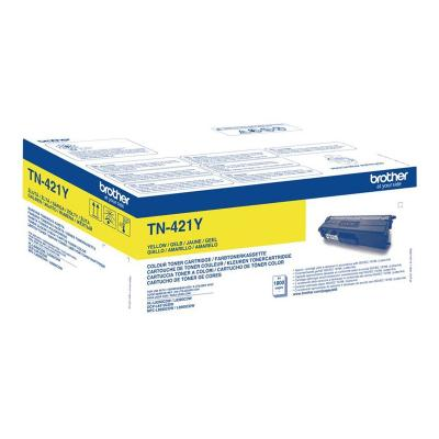 Brother Toner TN-421 TN421 Yellow Gelb 1,8k (TN421Y)