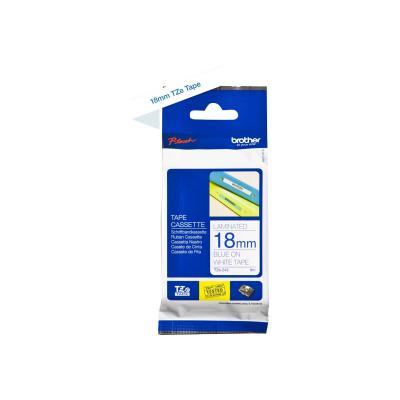 Brother TZE-Schriftbandkassette TZESchriftbandkassette TZe-243 TZe243 White Blue (TZE243)