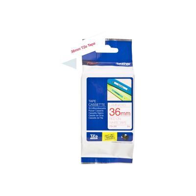 Brother TZE-Schriftbandkassette TZESchriftbandkassette TZe-262 TZe262 White Red (TZE262)