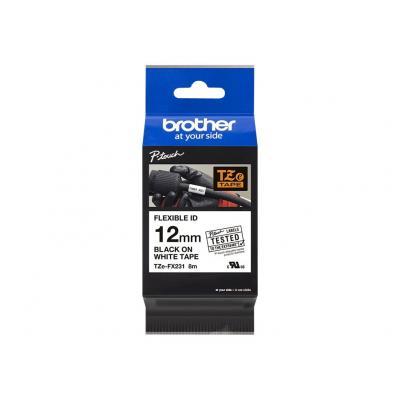 Brother TZE-Schriftbandkassette TZESchriftbandkassette TZe-FX231 TZeFX231 White Black (TZE-FX231) (TZEFX231)