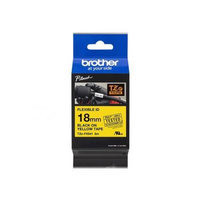 Brother TZE-Schriftbandkassette TZESchriftbandkassette TZe-FX641 TZeFX641 Yellow Black (TZEFX641)