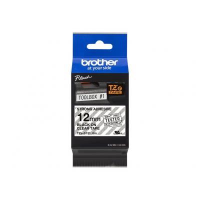 Brother TZE-Schriftbandkassette TZESchriftbandkassette TZe-S131 TZeS131 Farbslos Schwarz (TZES131)