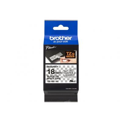 Brother TZE-Schriftbandkassette TZESchriftbandkassette TZe-SE4 TZeSE4 White Black (TZESE4)