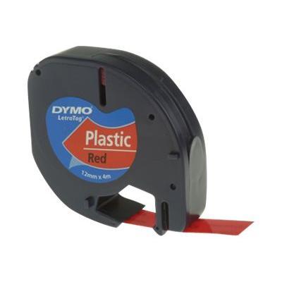 Dymo Schriftband 91203Y Plastictape Red (S0721630)
