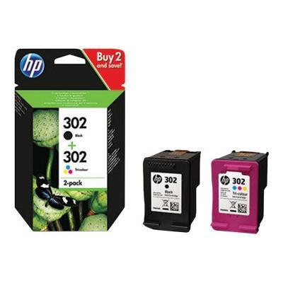HP Ink No 302 HP302 HP 302 Black Schwarz + Color (X4D37AE)