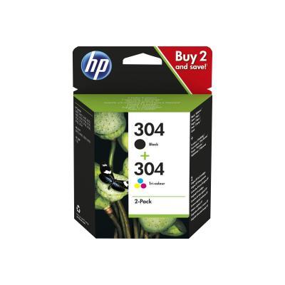 HP Ink No 304 HP304 HP 304 Black Schwarz + 304 Color (3JB05AE#UUS)