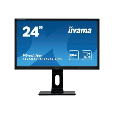 "iiyama Monitor ProLite B2483HSU-B5 B2483HSUB5 24"" (B2483HSU-B5) (B2483HSUB5)"