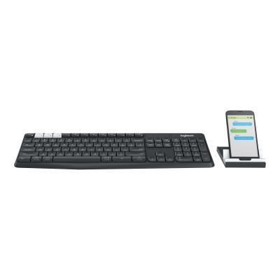 Logitech Keyboard K375s Multi-Device MultiDevice Wireless Bluetooth, 2 4 Logitech4 Logitech 4 GHz [DEU] QWERTZ (920-008168) (920008168)