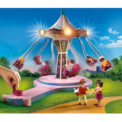Playmobil Family Fun 70558 Großer Vergnügungspark, Inkl. Lichteffekt (70558)