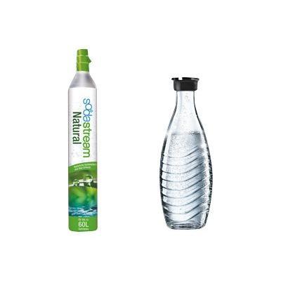Sodastream Zubehör Kit (Reservezylinder 60L + 1x Glasflasche)